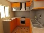 cocinas-pequeñas-2014-cocina-con-muebles-naranjas