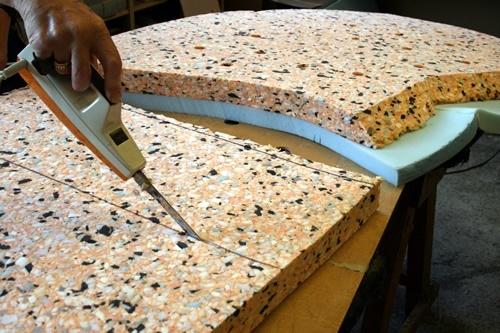 cmo se utiliza y aplica la espuma para tapizar