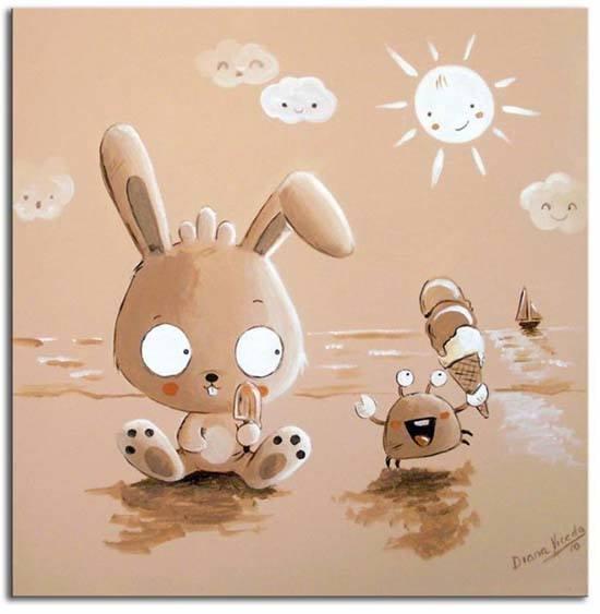 Cuadros infantiles para decorar una habitacion cuadro conejito - Cuadros para una habitacion ...
