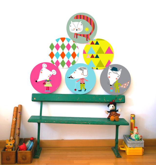 Cuadros infantiles para decorar una habitaci n - Cuadros para una habitacion ...