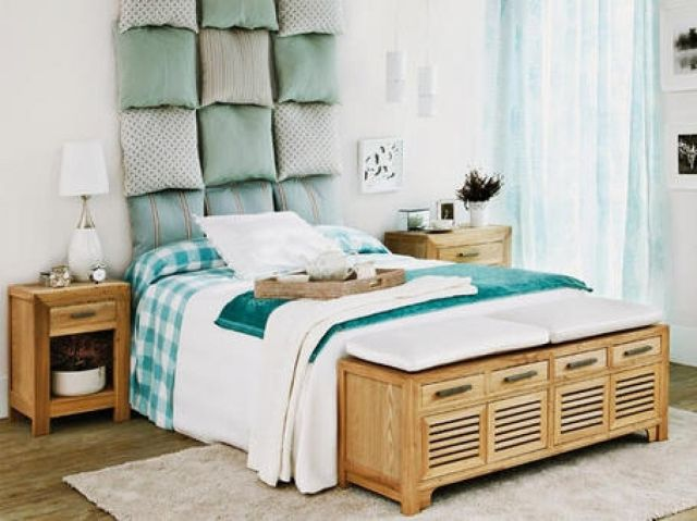 M s de 100 fotos de cabeceros originales para cama 2018 - Cabeceros de cama originales pintados ...