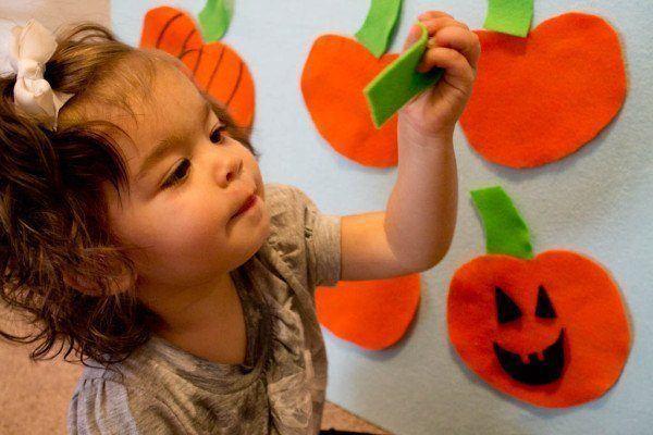 Hacer calabaza de Halloween 2015 con un fieltro