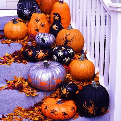decorar-calabazas-de-halloween-manualidades-2015-arañas