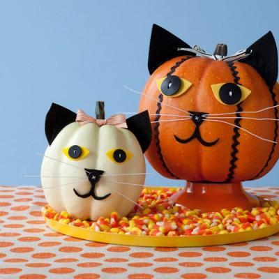 decorar-calabazas-de-halloween-manualidades-2015-gatito