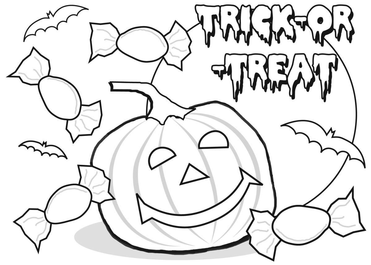 Asombroso Caramelos De Halloween Para Colorear Imagen - Enmarcado ...