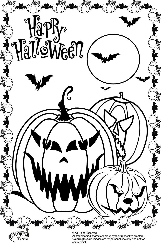 Excelente Calabazas De Halloween Para Colorear Ilustración - Dibujos ...