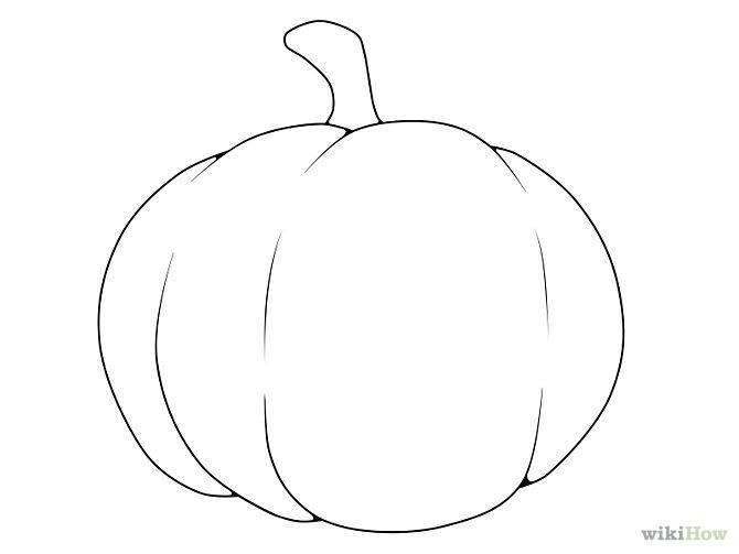 Imagenes De Calabazas De Halloween Para Dibujar. Dibujos De ...