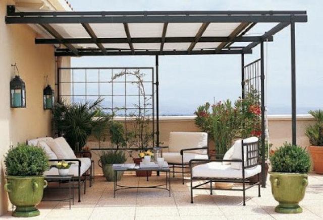 De 50 ideas de techos de madera para terrazas - Como cubrir una terraza ...