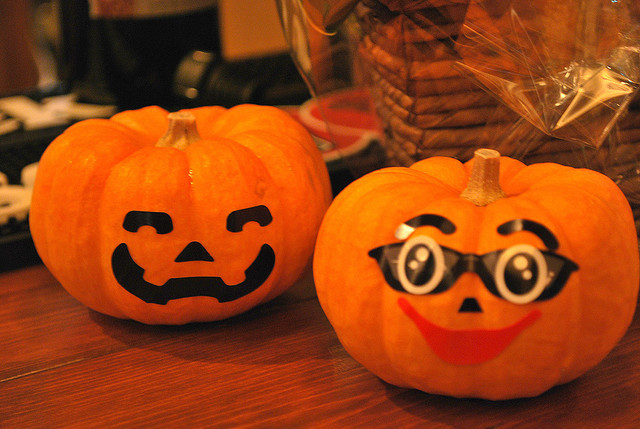 Decoración de calabazas para Halloween 2015