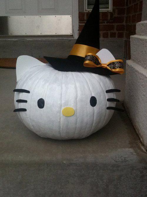 Decoración de calabazas para Halloween 2015-de-hello-kitty