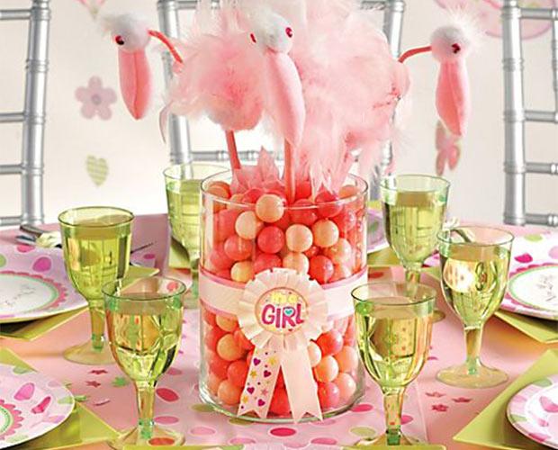 Centro De Mesa Baby Shower Con Caramelos Y