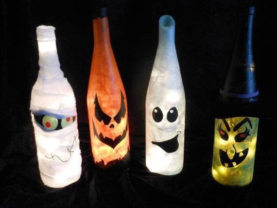 Decoración Halloween 2018 | Calabazas y frascos