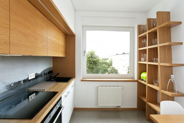 Repisas de madera y modernas para la pared - Estanterias para la cocina ...
