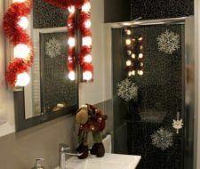 Cómo decorar el baño para Navidad