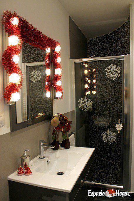 Cómo decorar el baño para Navidad - EspacioHogar.com