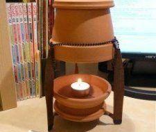 Calentar la casa en invierno con una maceta y una vela por menos de 20 céntimos al día