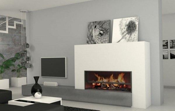 Fotos de salones con chimeneas - Chimeneas modernas fotos ...