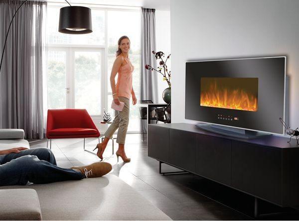 Fotos de salones con chimeneas for Salones con chimeneas electricas