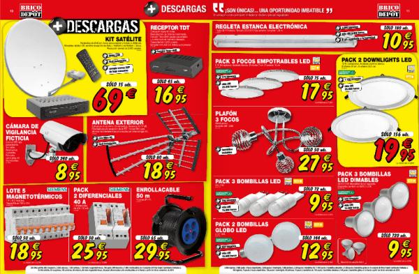 Antenas, iluminación - Catálogo Brico Depot enero 2015