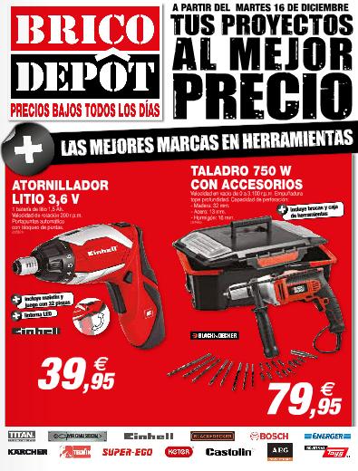Portada herramientas catálogo brico depot diciembre 2014