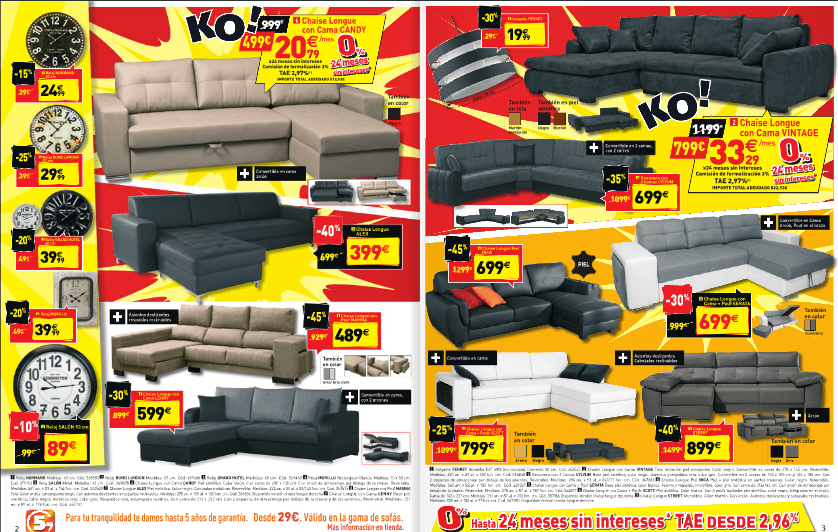 Sofas catalogo conforama febrero 2015 for Sofas conforama catalogo