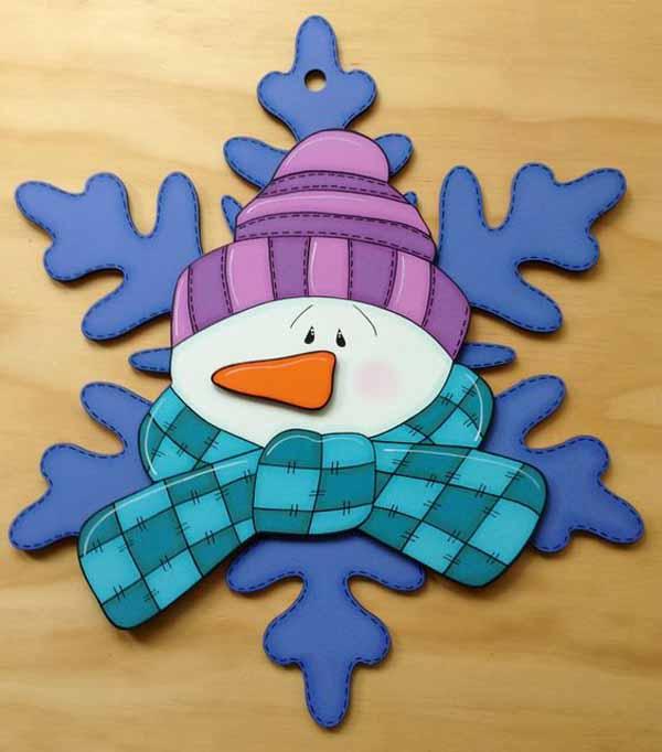 manualidades-de-navidad-en-foami-muneco-de-nieve