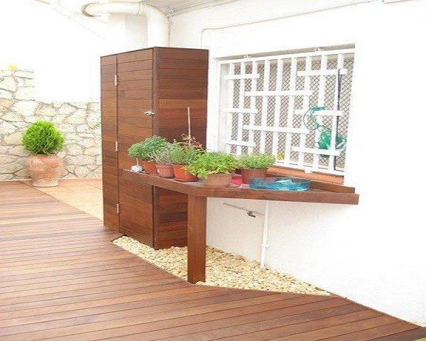 Armario exterior de terraza de 30 fotos con los modelos for Armarios para terrazas