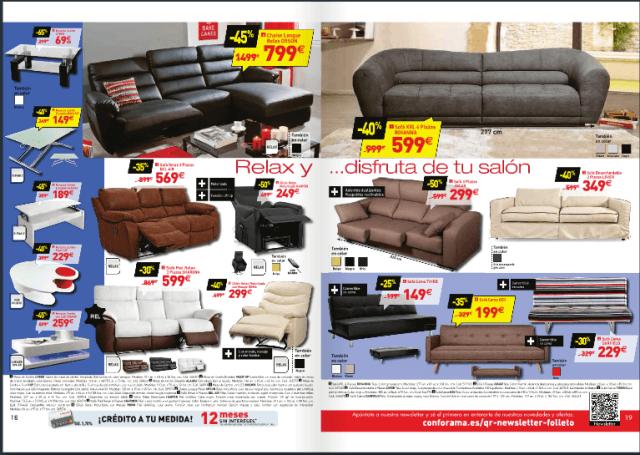 Conforama catalogo mayo 2015 sofas piel for Sofas piel conforama