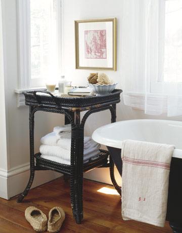 fotos-baño-rustico-IDEAS-mesilla-para-toallas