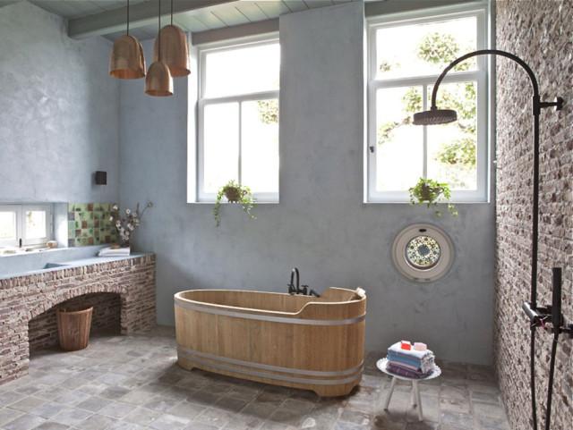 fotos-baño-rustico-modelo-moderno