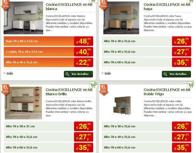 Muebles de cocina baratos for Muebles baratos por internet