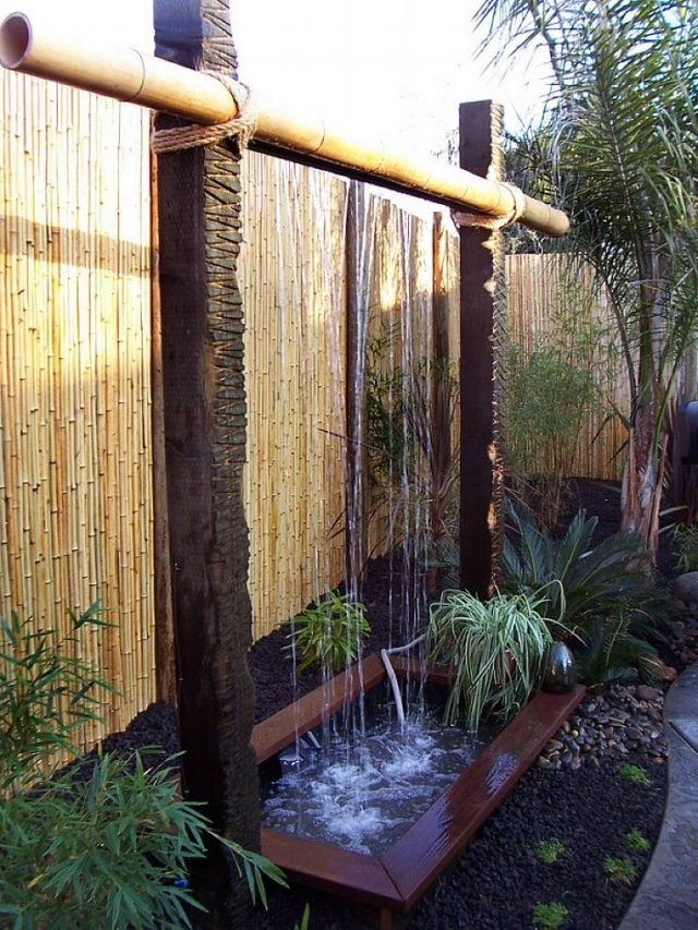 Zen Garden Fountains-with-bamboo-and-waterfall