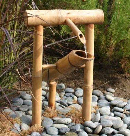 Zen garden-with-bamboo-fountains