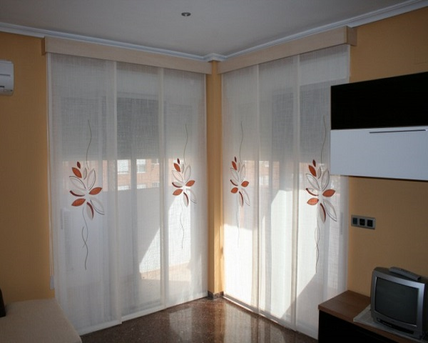 Paneles japoneses ikea 2018 for Enganches para cortinas