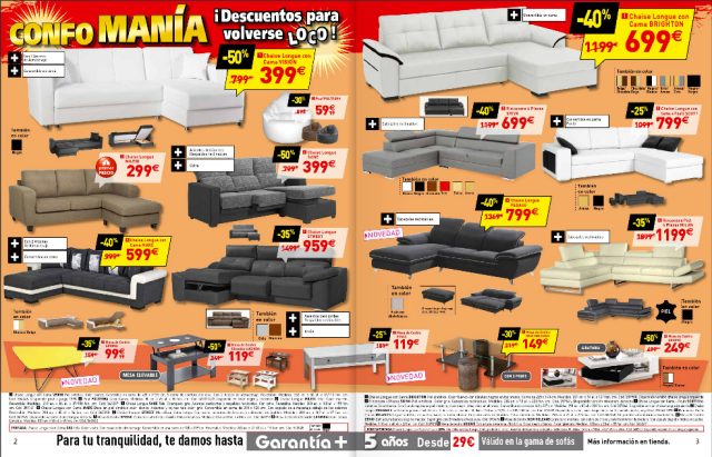 Sofas catalogo conforama junio 2015 for Sofas conforama catalogo