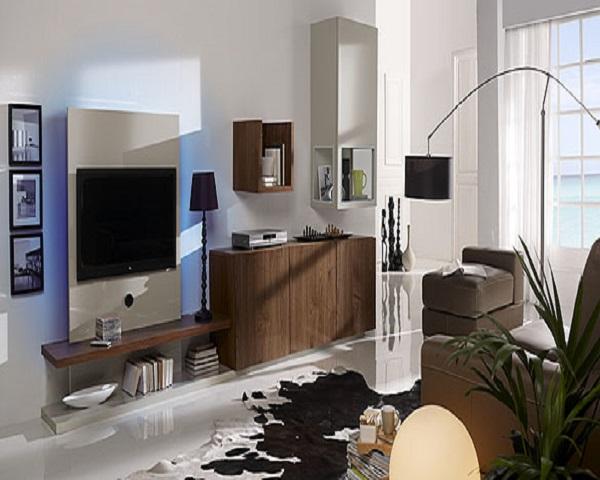 Television colgada salones-pequeños