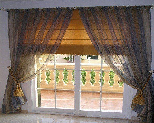 cortina con estores
