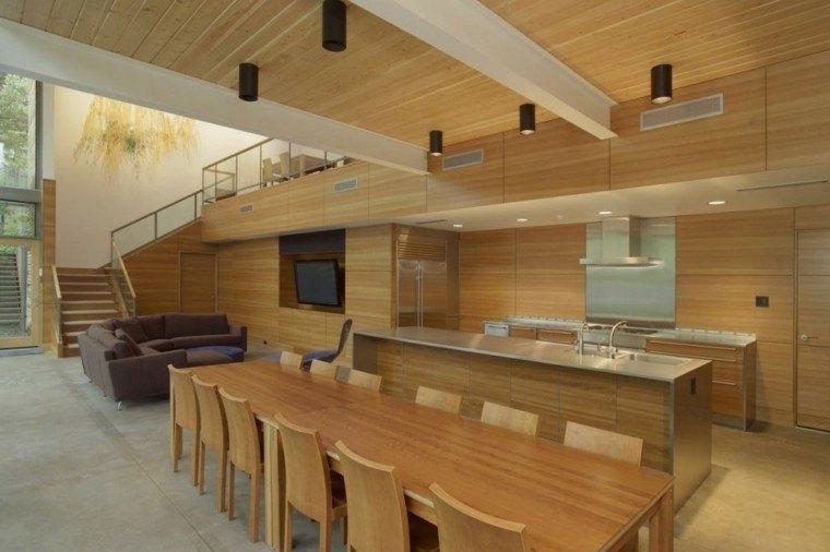 Techos de madera para la casa comedor bonito todo madera - Madera para techos interiores ...