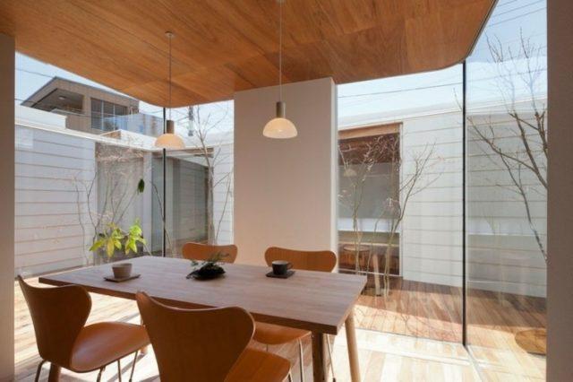 techos-de-madera-para-la-casa-comedor-moderno-techo-madera