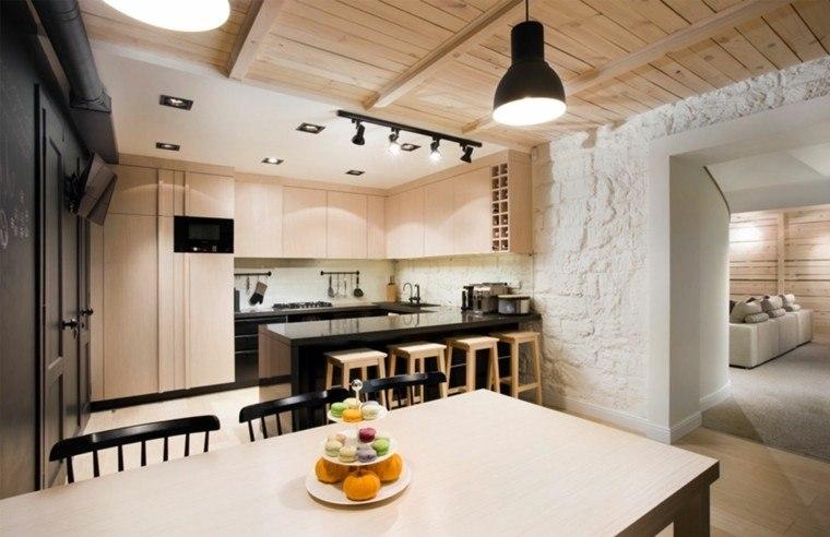 techos de madera para la casa diseo cocina rustica madera