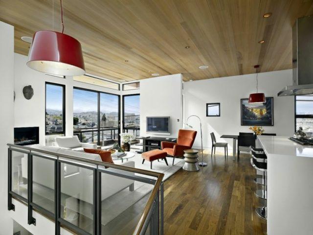 De 50 ideas de techos de madera para terrazas for Laminas para techos interiores