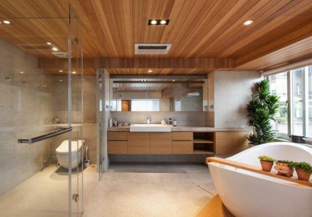 De 50 ideas de techos de madera para terrazas - Techos falsos de madera ...