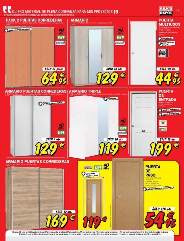 Armario - Puertas de armarios de cocina en brico depot ...
