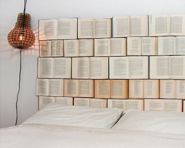Cabecero cama libros