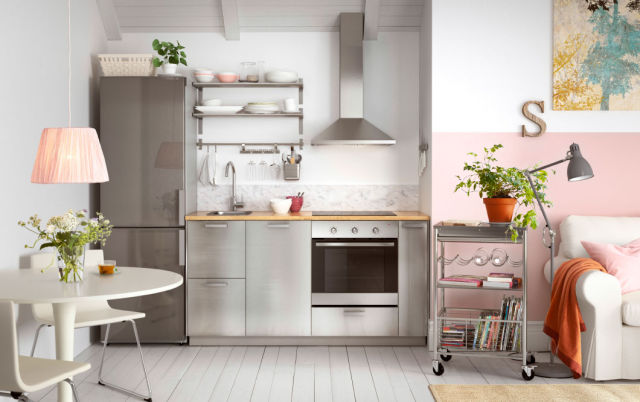 Cocinas integrales peque as y modernas 2019 - Cucina piccola ikea ...