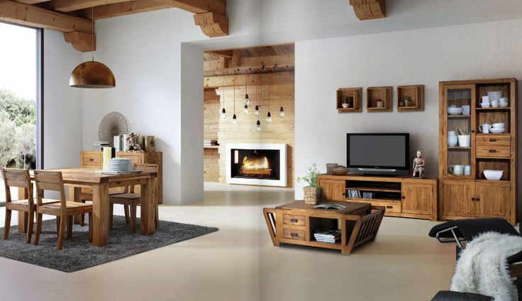 Repisas de madera for Repisas rusticas para cocina