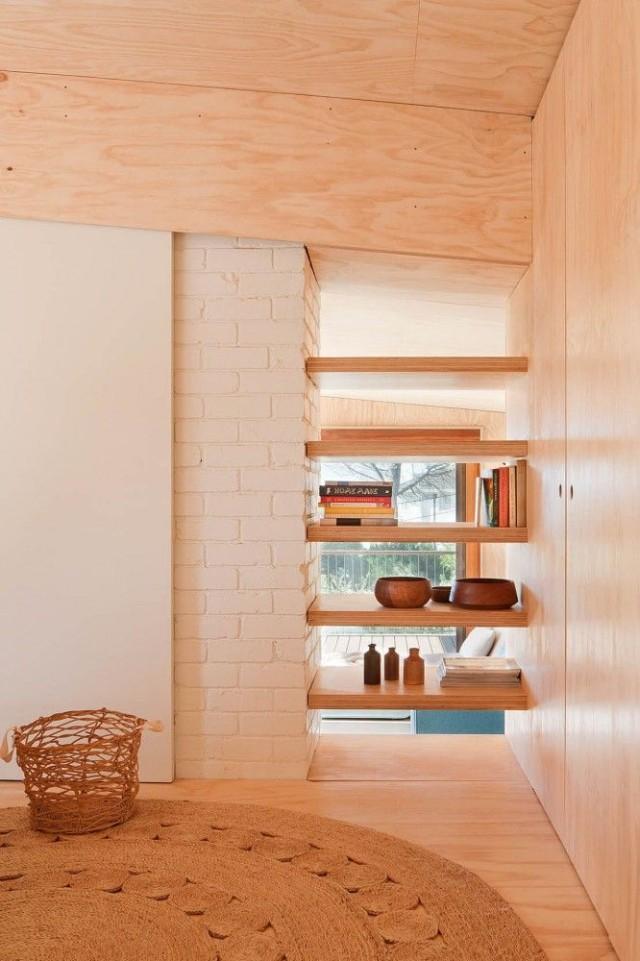 Las mejores 60 fotos de repisas de madera for Repisas para escaleras