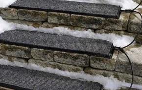 Escalones térmicos para derretir la nieve