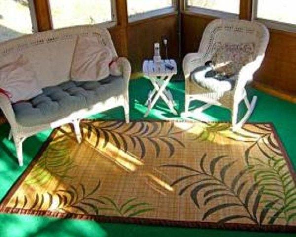 Alfombra bambú al sol