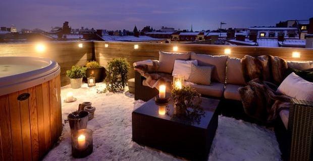 M s de 100 fotos de decoraci n de terrazas y balcones for Iluminacion terraza